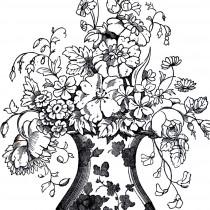 Vintage Floral Vase