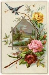 roses pretty fairy flowers graphics cards clip victorian rose flower decoupage printables card thegraphicsfairy postcards flores easter soap prints lezen