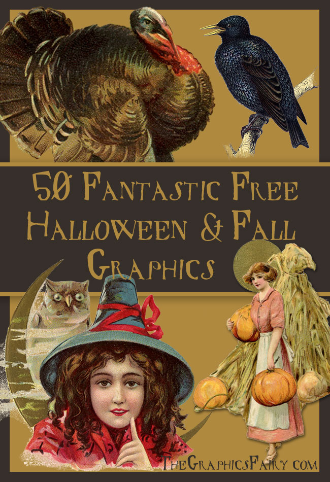 50 Fantastic Halloween and Fall Graphics  //  The Graphics Fairy