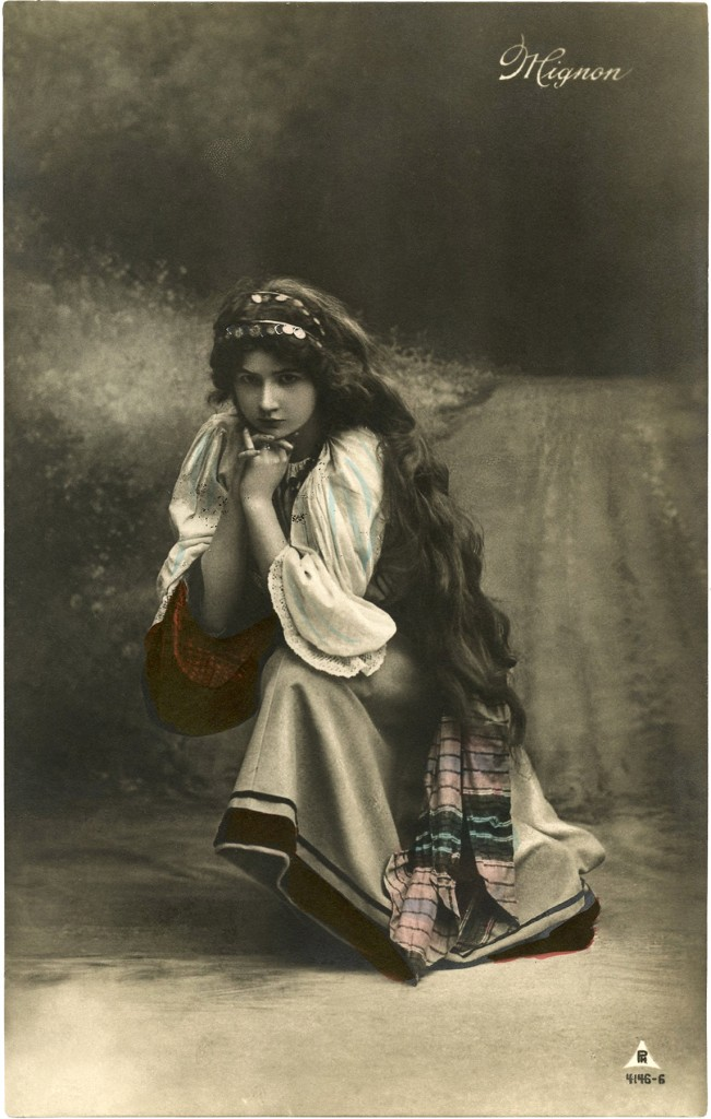 Pretty Vintage Gypsy Photo  The Graphics Fairy