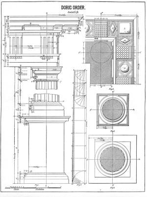 Architecture Printable Doric Order Diagram  Columns