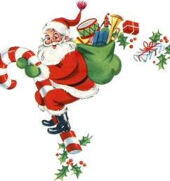 free santa clipart with toys [ 2400 x 2324 Pixel ]