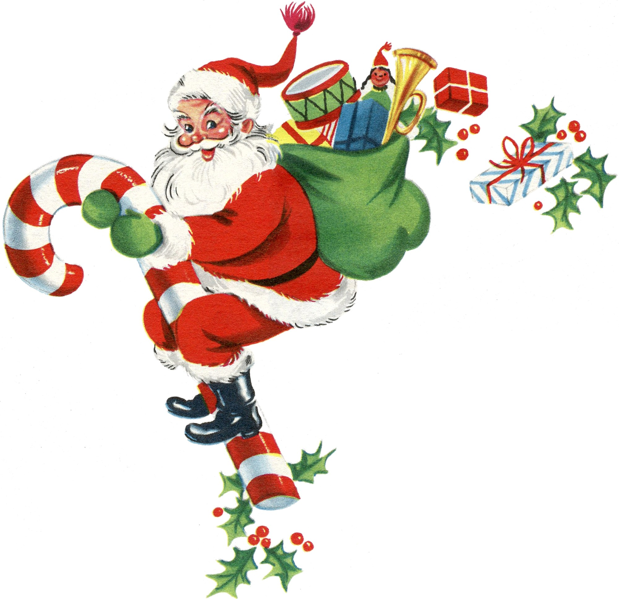 hight resolution of free santa clipart with toys