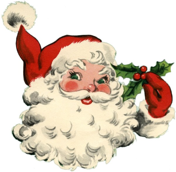 Adorable Santa Image! The Graphics Fairy