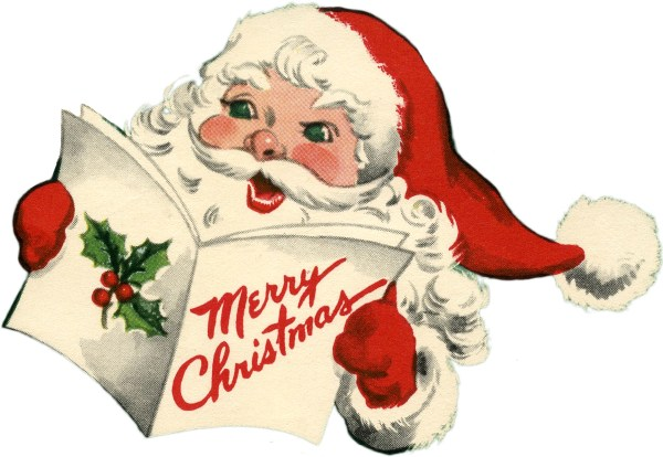 Cheerful Retro Santa Picture Cuteness! The Graphics Fairy