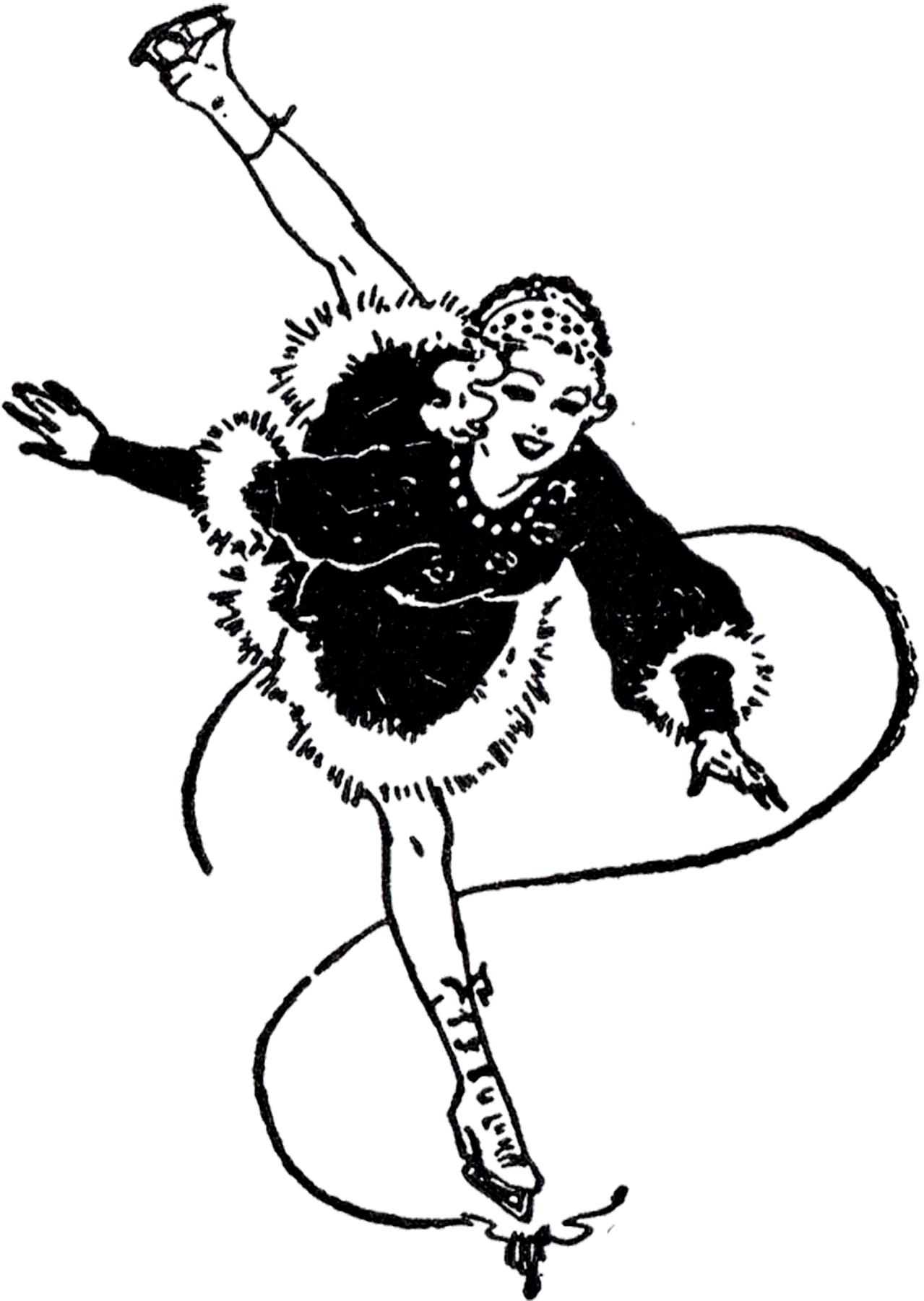 Vintage Figure Skating Image