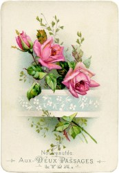 roses french cards rose graphics antique fairy postcards paper flowers graphic card digital pink thegraphicsfairy printable clipart floral clip shabby