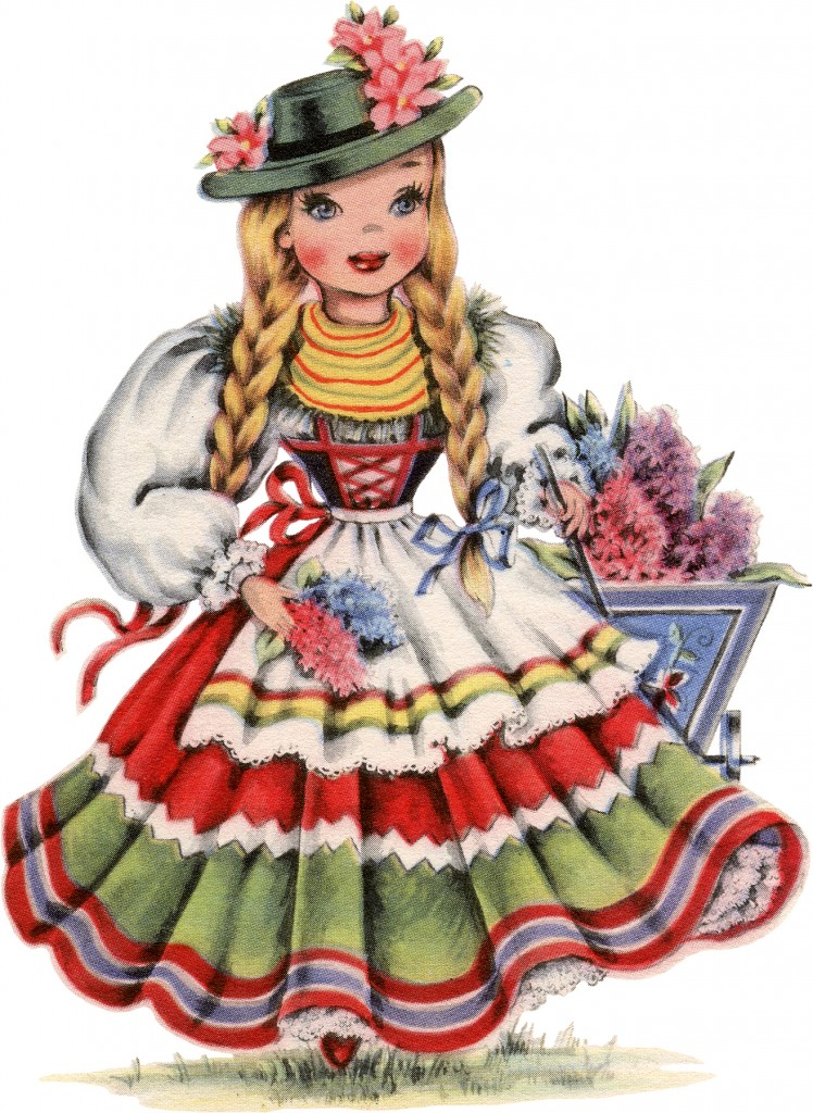 Retro German Doll Image The Graphics Fairy