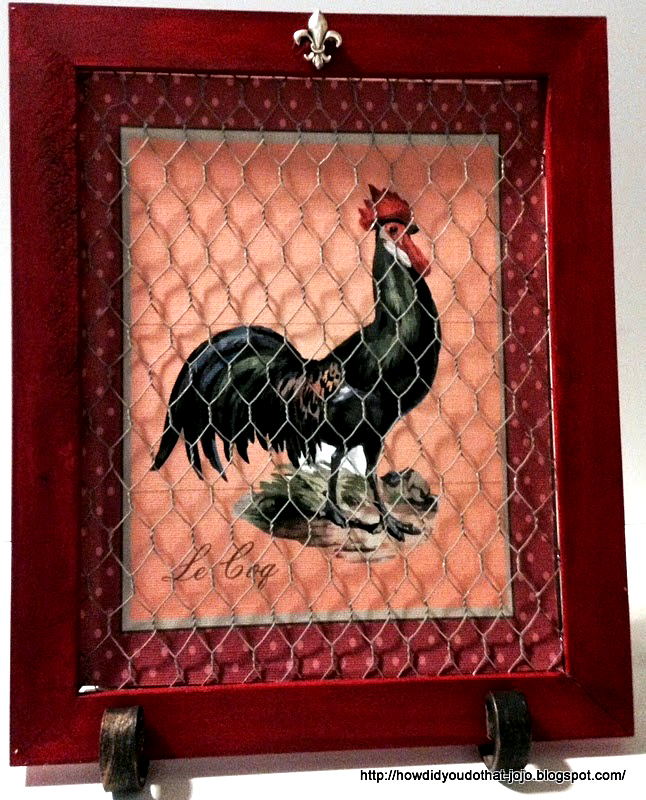 rooster decor kitchen blue countertops 9 diy vintage projects - the graphics fairy