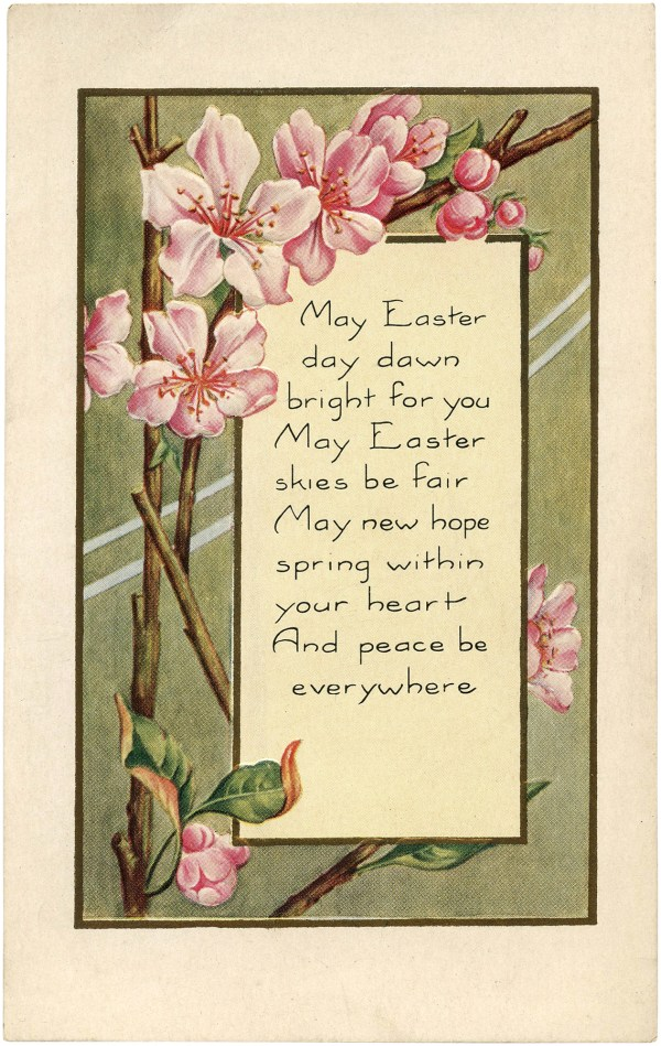 Pretty Easter Blossoms - Graphics Fairy