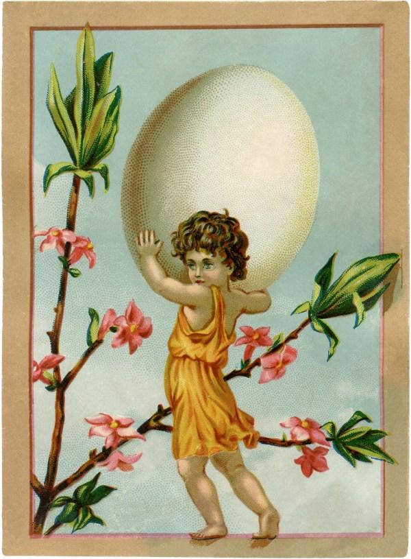 Vintage Easter Egg Fairy - Graphics