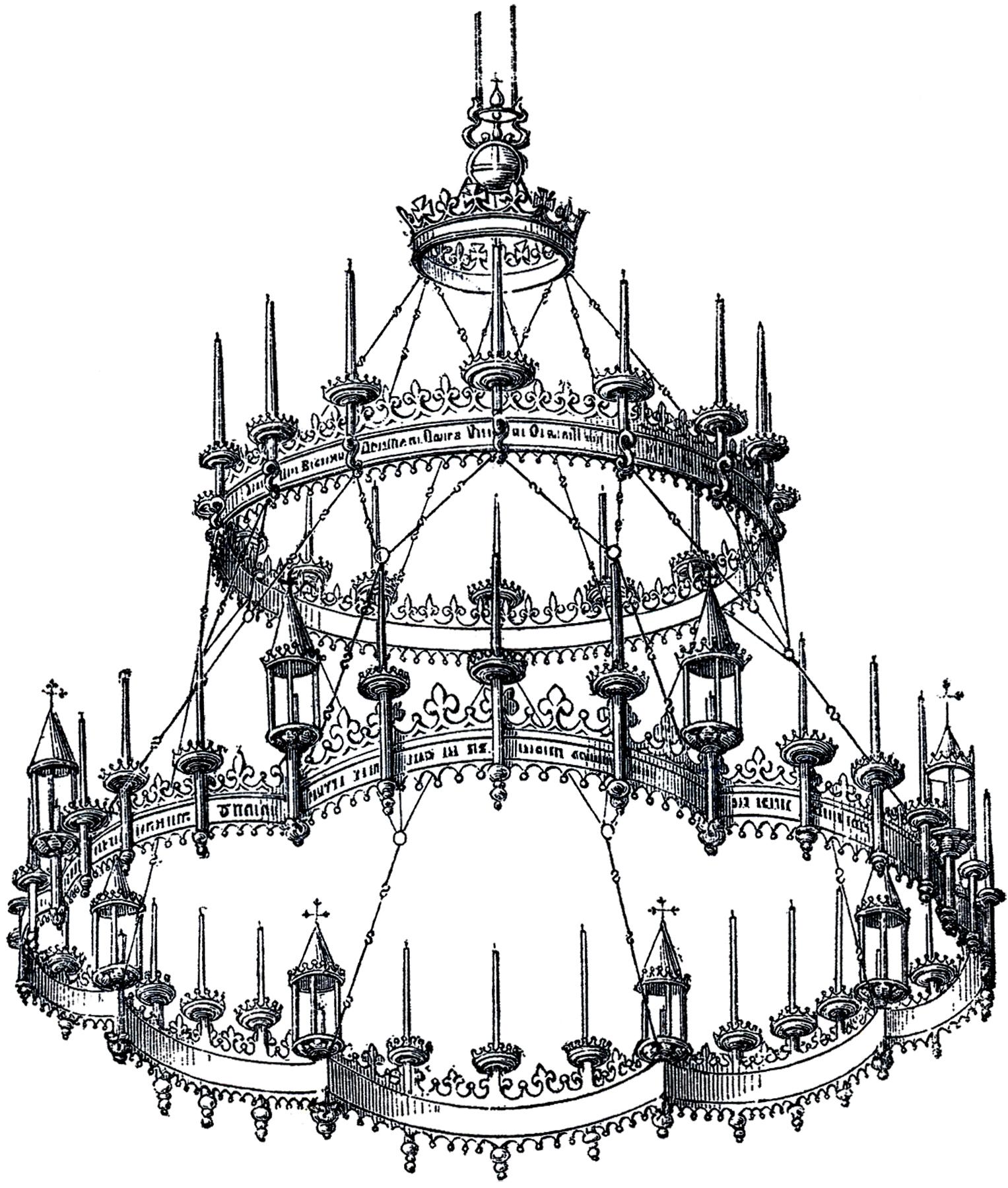 Vintage Gothic Chandelier