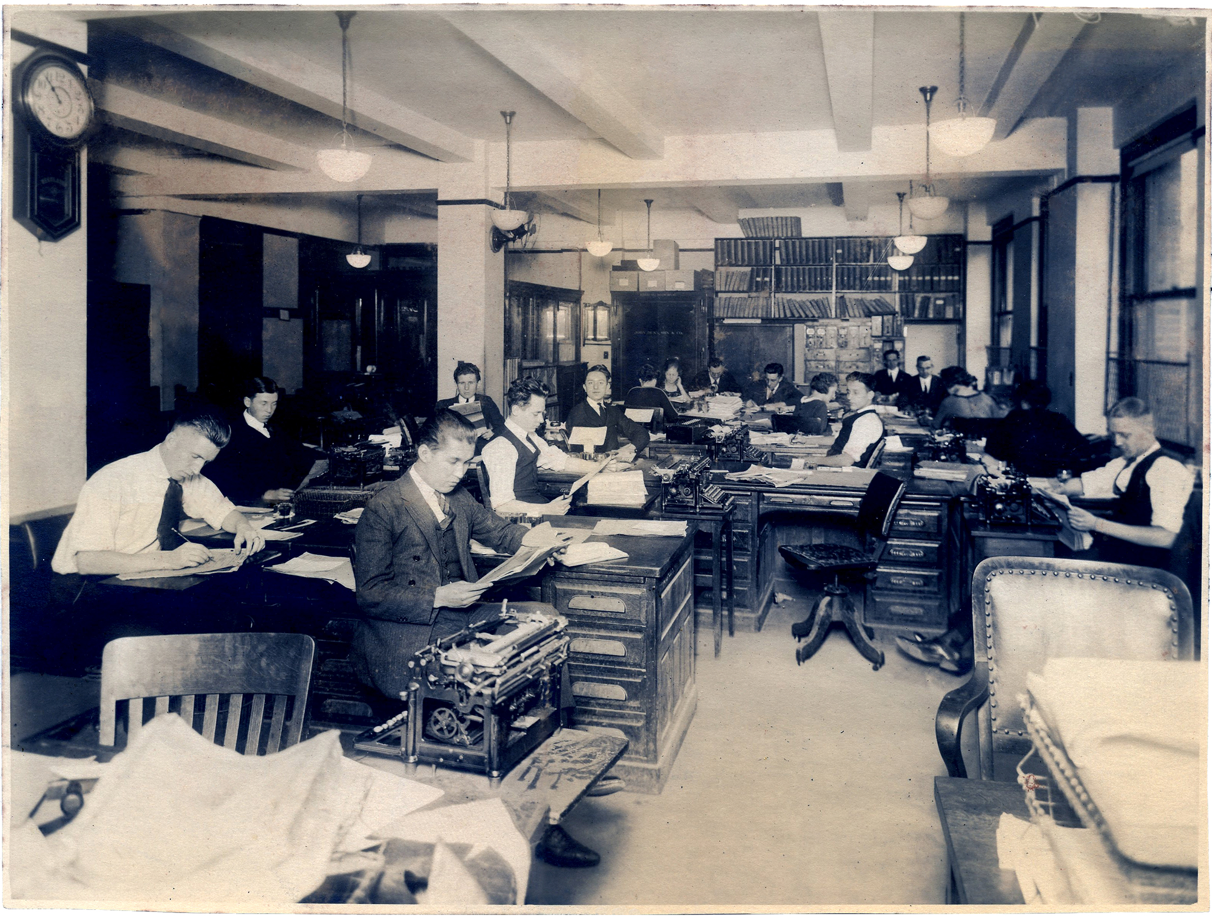 Interesting Vintage Office Photo With Office Workers