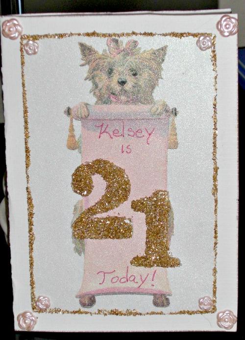 Handmade 21st Birthday Card Reader Feature The
