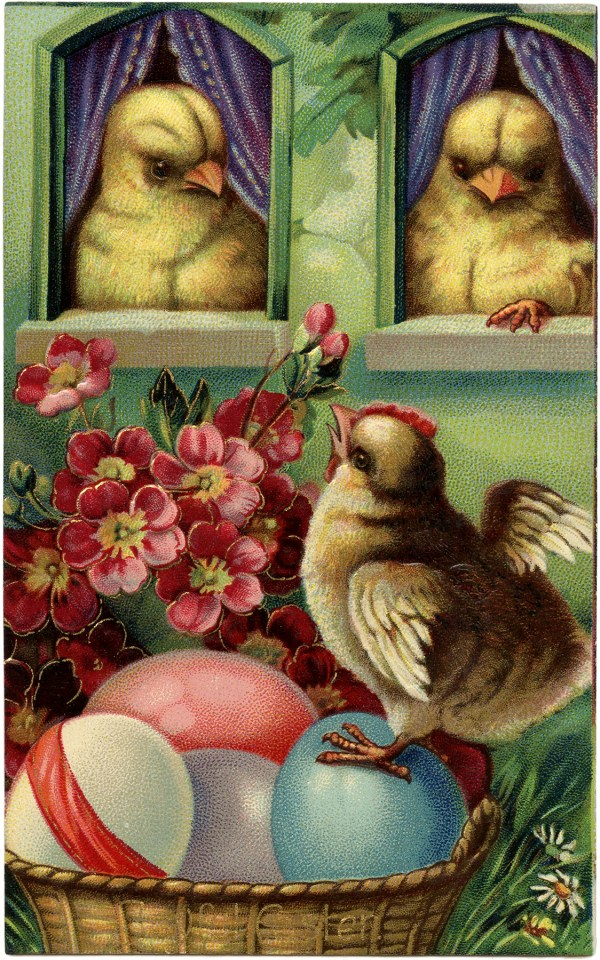 Precious Peeps Easter Postcard - Graphics Fairy
