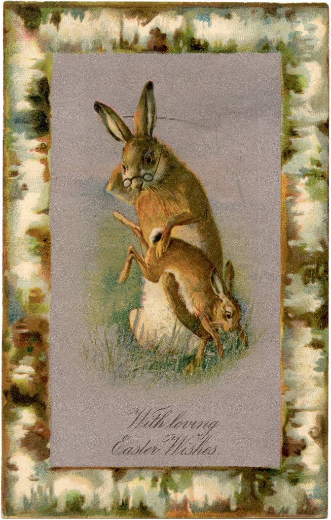 Vintage Bunny Spanking Image The Graphics Fairy