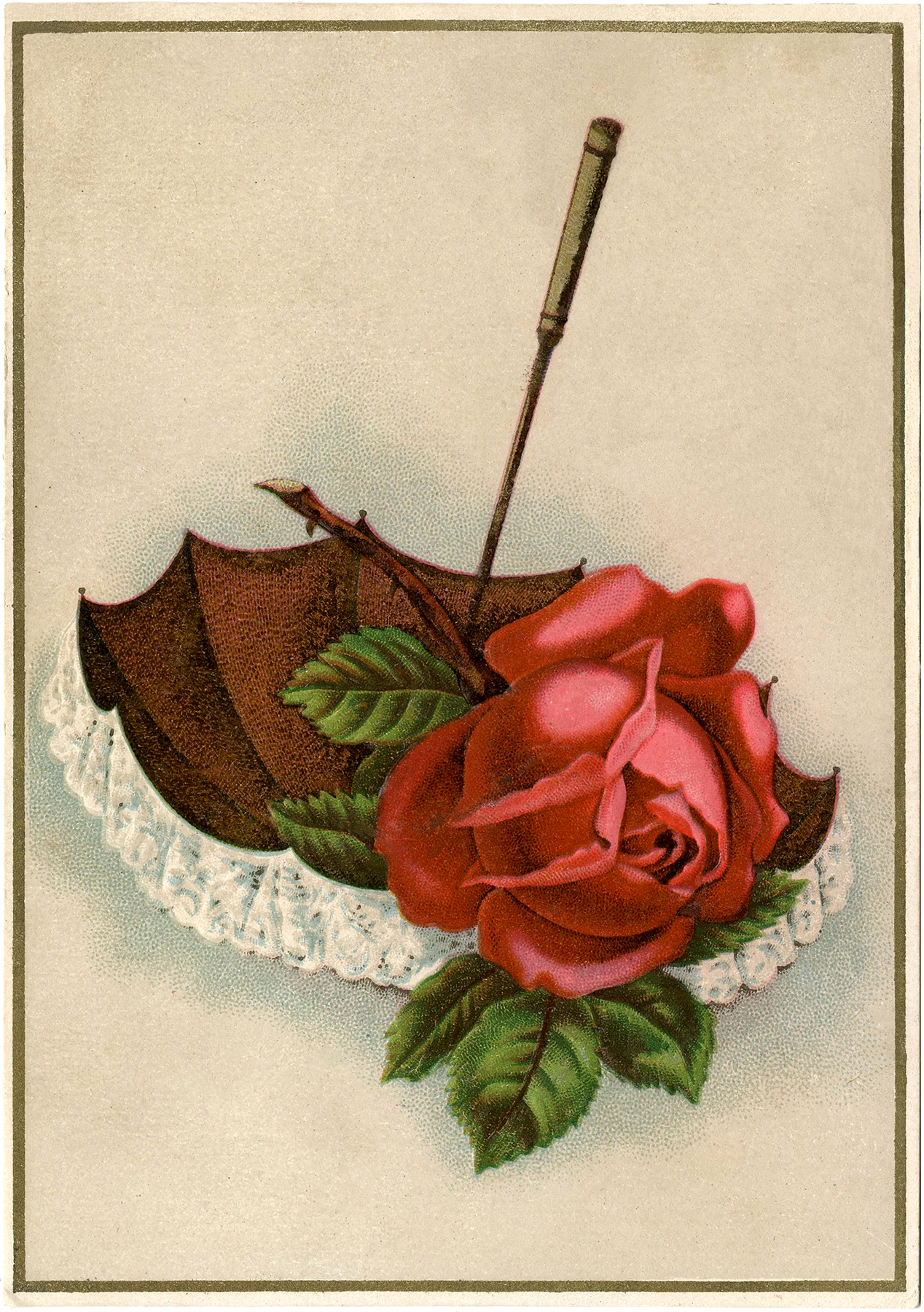 Vintage Rose Lace Umbrella Image  Beautiful  The Graphics Fairy