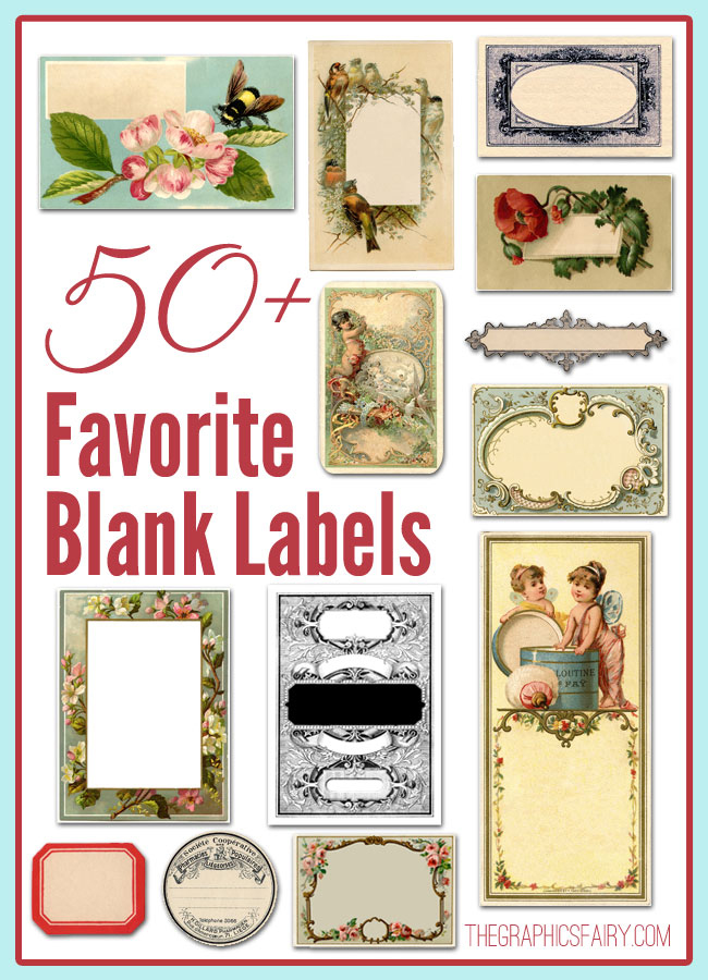 50 Best Blank Labels Vintage The Graphics Fairy