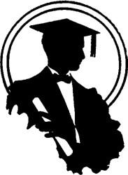 graduation silhouette young clip graphics graduate festa finalistas boy siluetas resultado thegraphicsfairy graphicsfairy guardado desde ar google