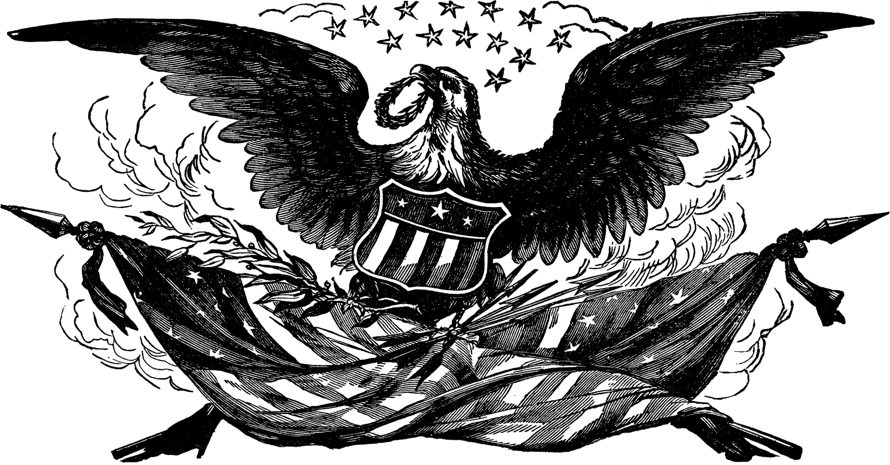 hight resolution of vintage bald eagle flag image