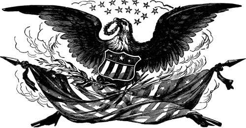 small resolution of vintage bald eagle flag image