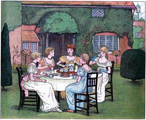 Vintage Garden Tea Party - Graphics Fairy