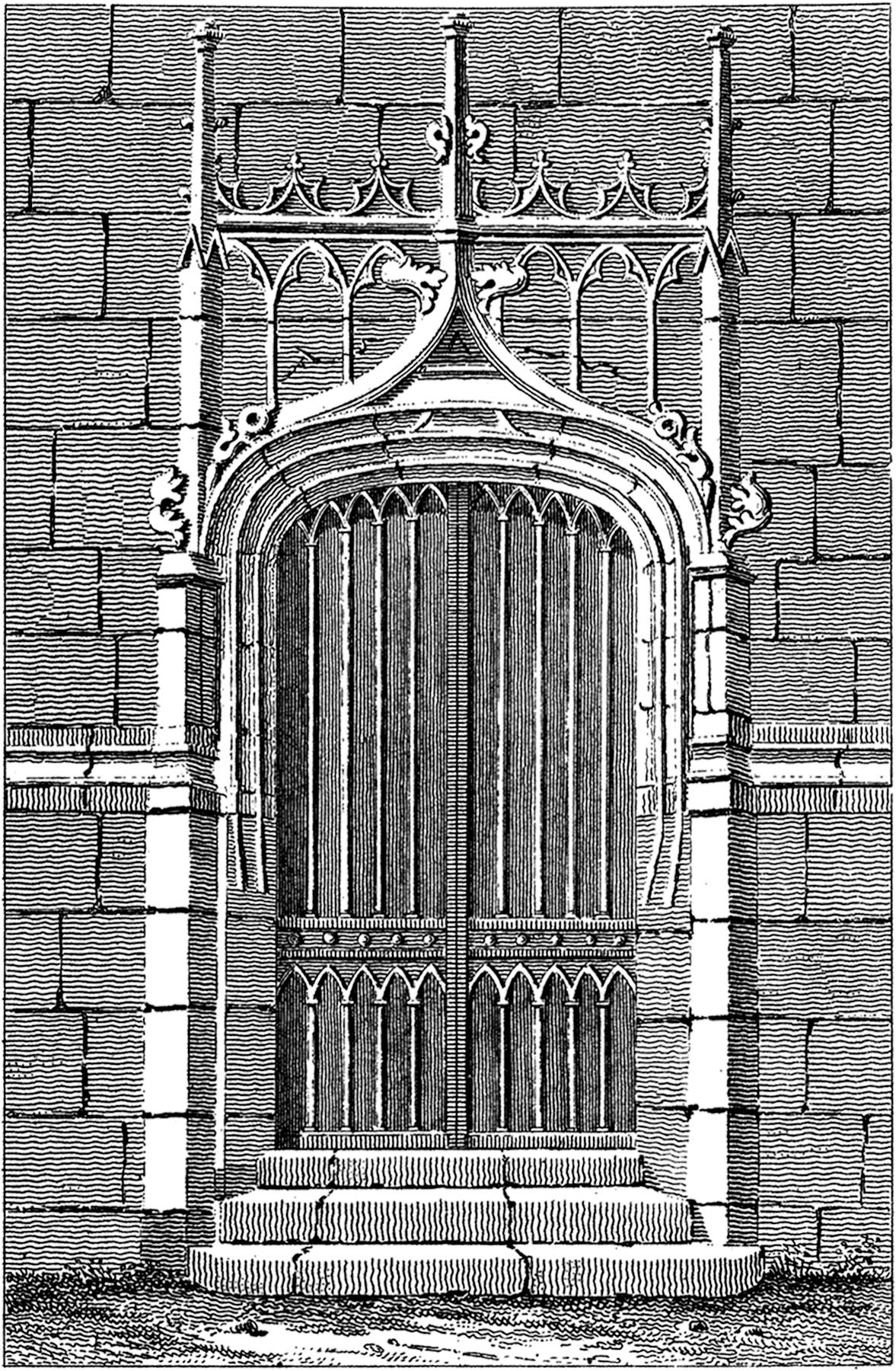 Antique Gothic Door Image The Graphics Fairy