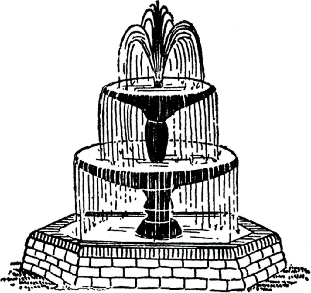 Free Vintage Fountain Clip Art