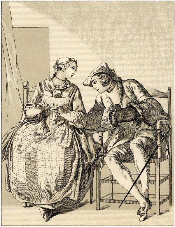 Vintage Romantic Couples Clip Art