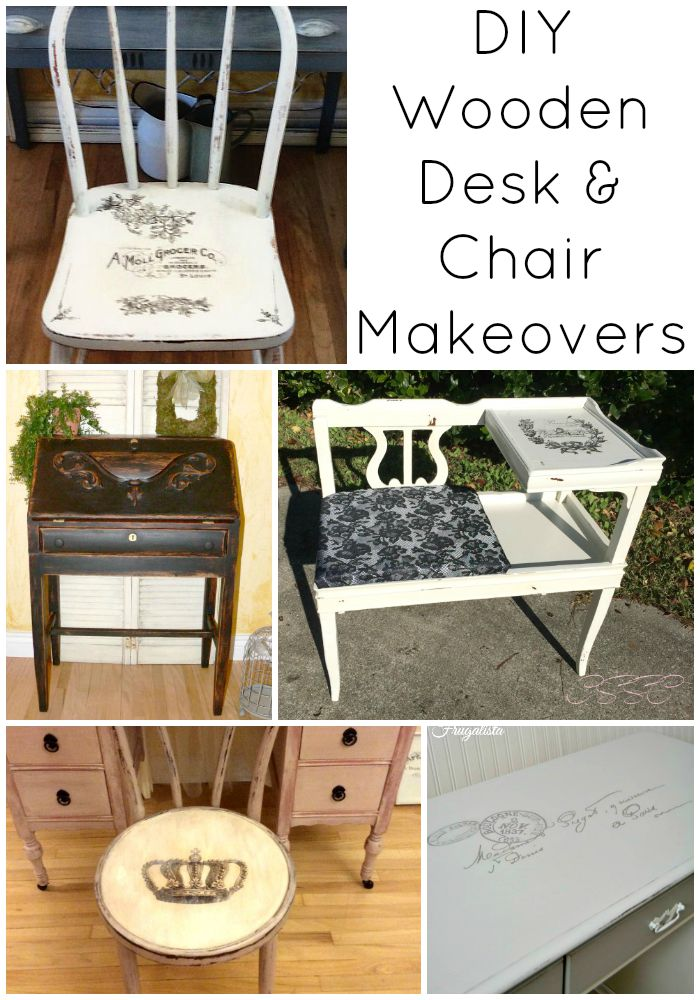 desk chair diy floor mats for office chairs 8 wooden and makeovers the graphics fairy