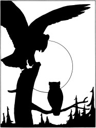 silhouette owl silhouettes clipart silhoutte graphics fairy thegraphicsfairy