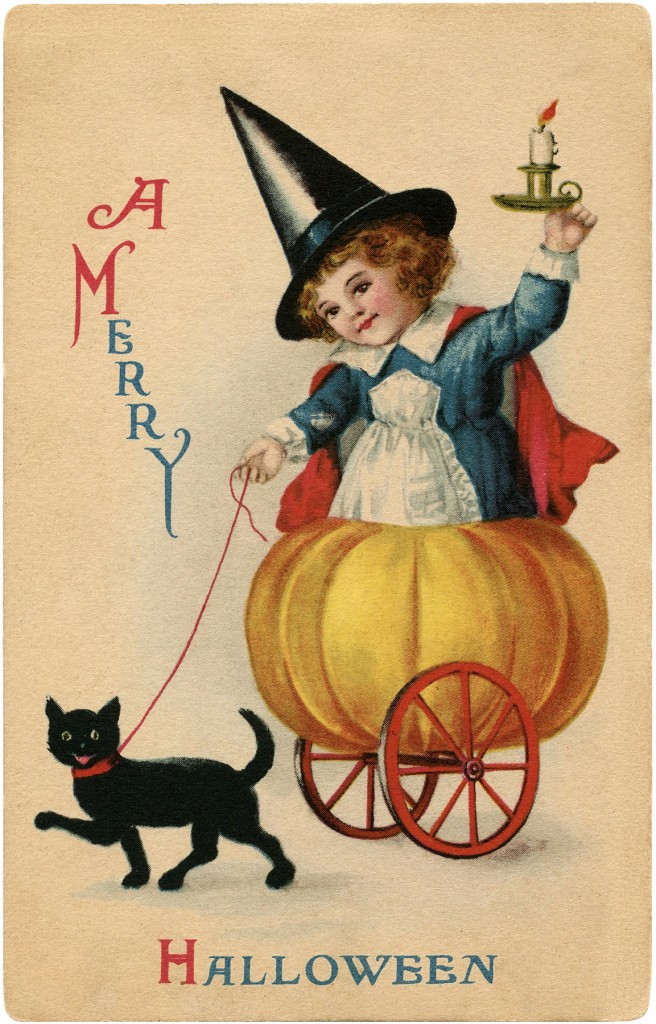 Vintage Sweet Halloween Witch Image Darling! The