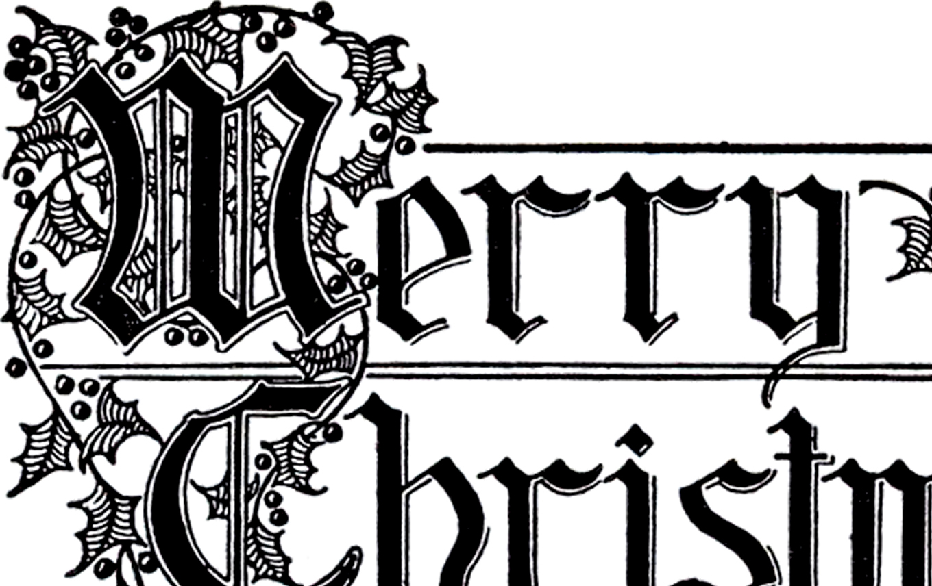Merry Christmas Typography Image