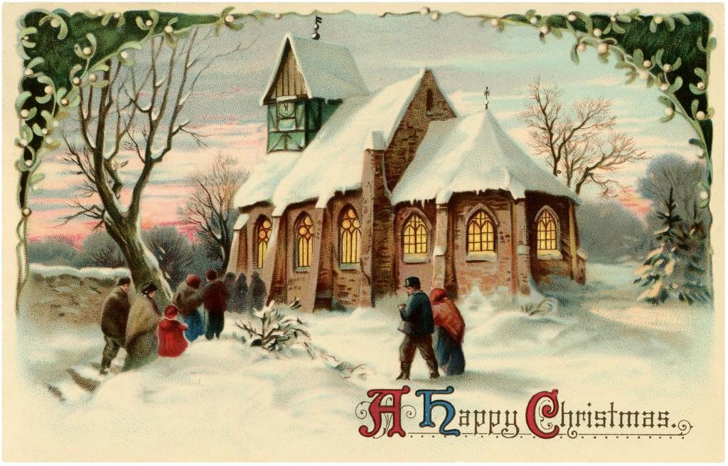 Vintage Christmas Church Image Beautiful The Graphics