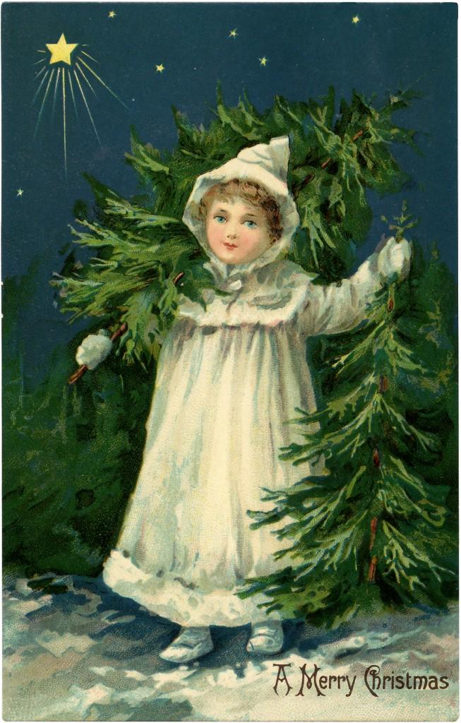 Christmas Tree Farm Girl Image