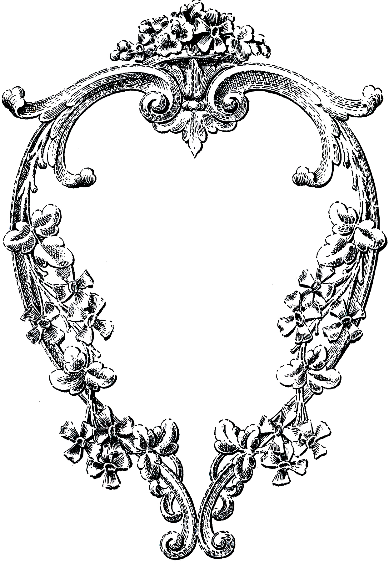 Vintage Heart Shaped Ornament