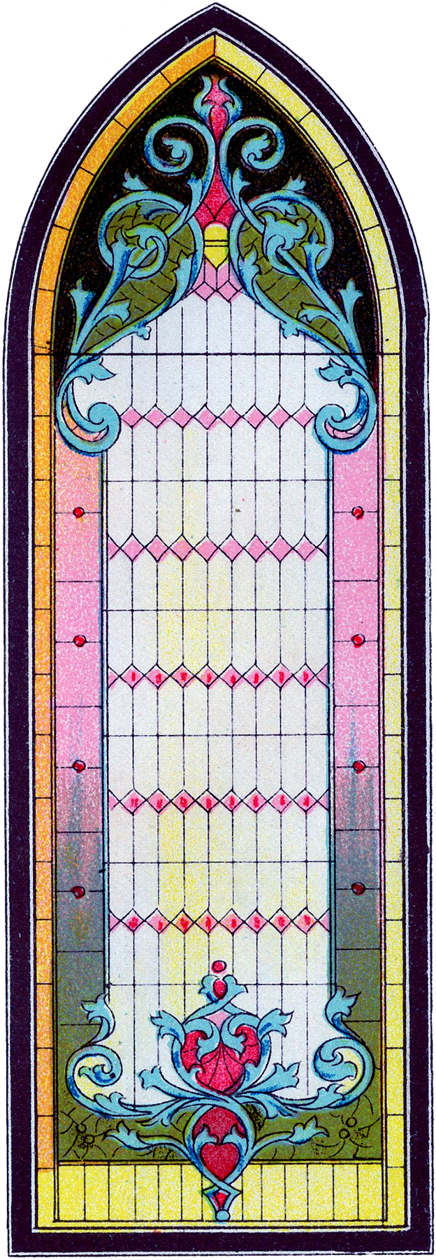 Vintage Stained Glass Gothic Window Image The Graphics Fairy