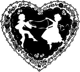 valentine silhouette fairy graphics silhouettes freebie valentines victorian clip romantic bird february thegraphicsfairy graphicsfairy