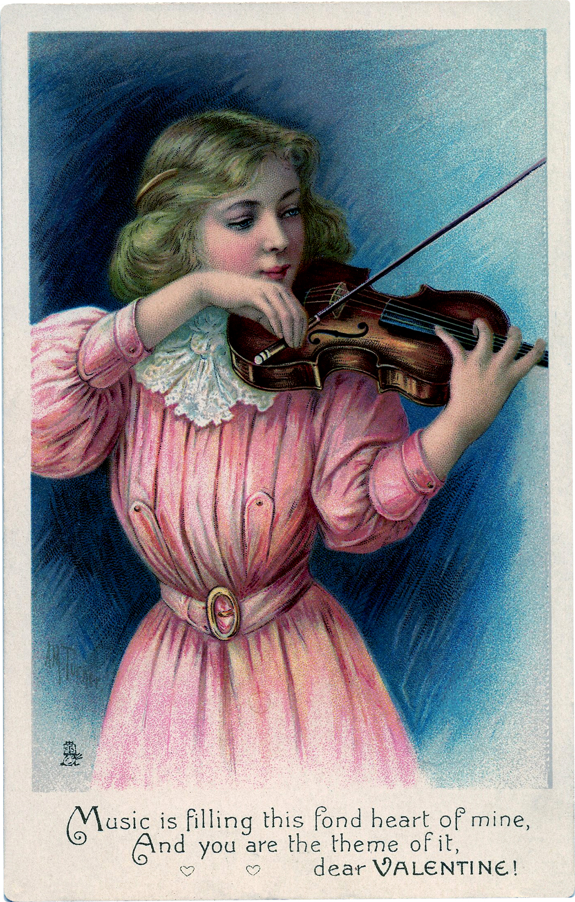 Lovely Violin Girl Image The Graphics Fairy