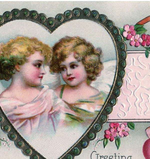 Victorian Cherubs Valentine - Pretty Graphics
