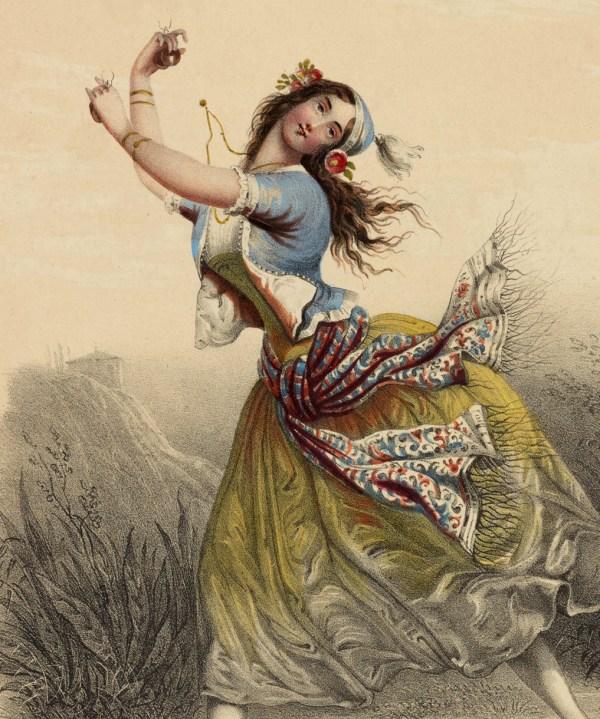 Exquisite Vintage Gypsy Ballerina - Graphics Fairy