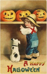 halloween boy darling happy victorian pumpkins graphics antique postcards pumpkin cute classic card cards there hallowe greeting lady fun postcard