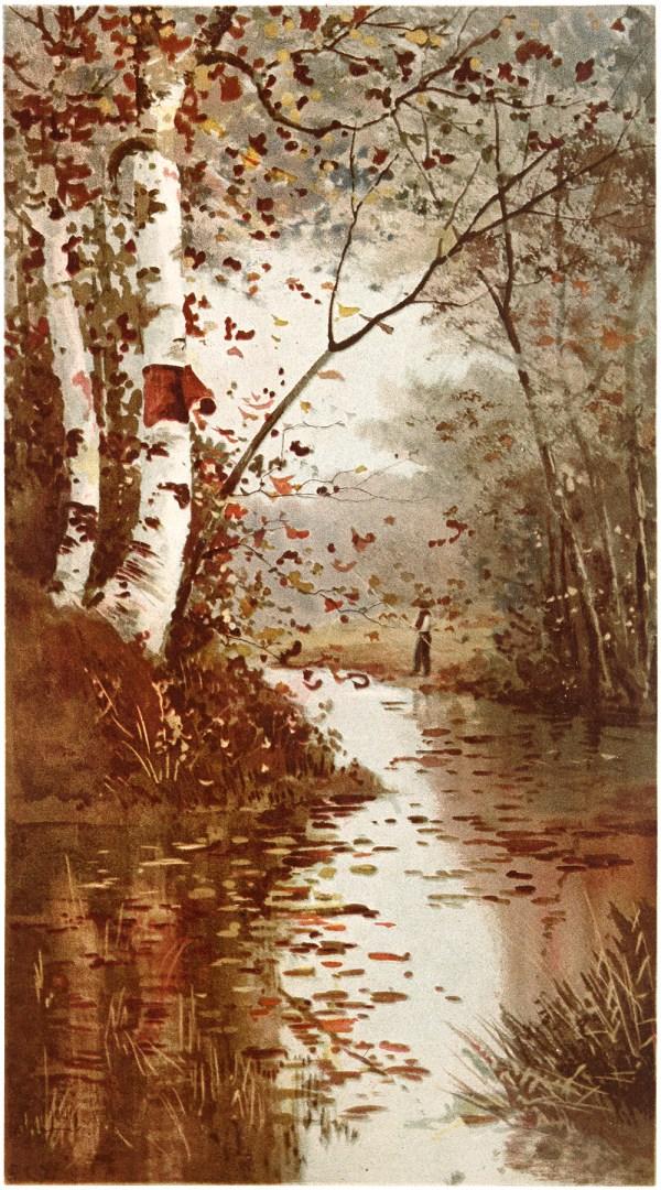 Lovely Fall Landscape Scene - Graphics Fairy