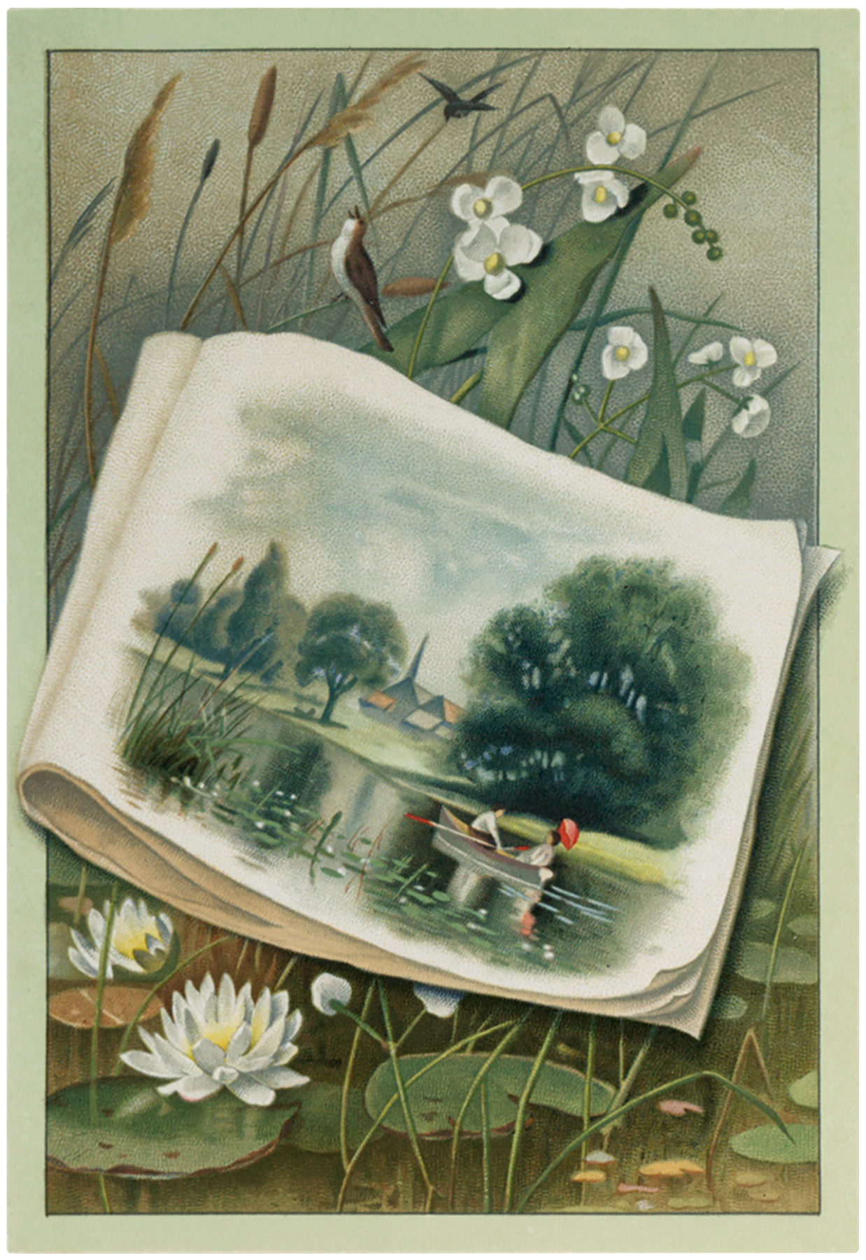 Graphics From The Pond : graphics, Vintage, Landscape, Scene, Graphics, Fairy