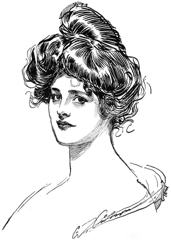 Woman Gibson Girl Drawings