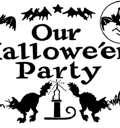 today i m sharing this nostalgic black and white halloween clip art this retro halloween party clip art has witches bats jack o lanterns black cats  [ 1800 x 806 Pixel ]