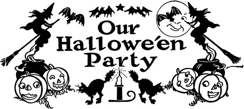 small resolution of today i m sharing this nostalgic black and white halloween clip art this retro halloween party clip art has witches bats jack o lanterns black cats