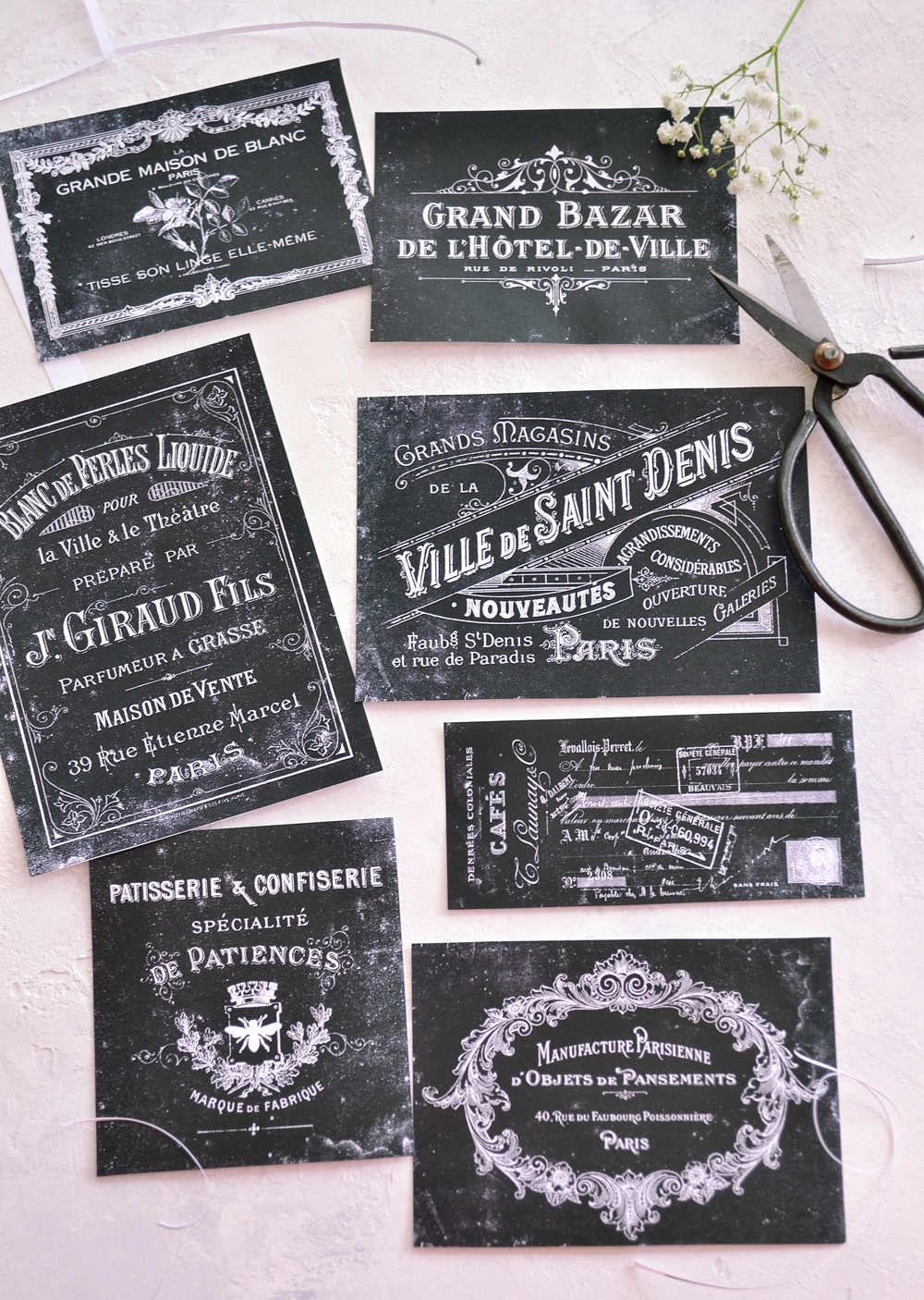french printable chalkboard labels