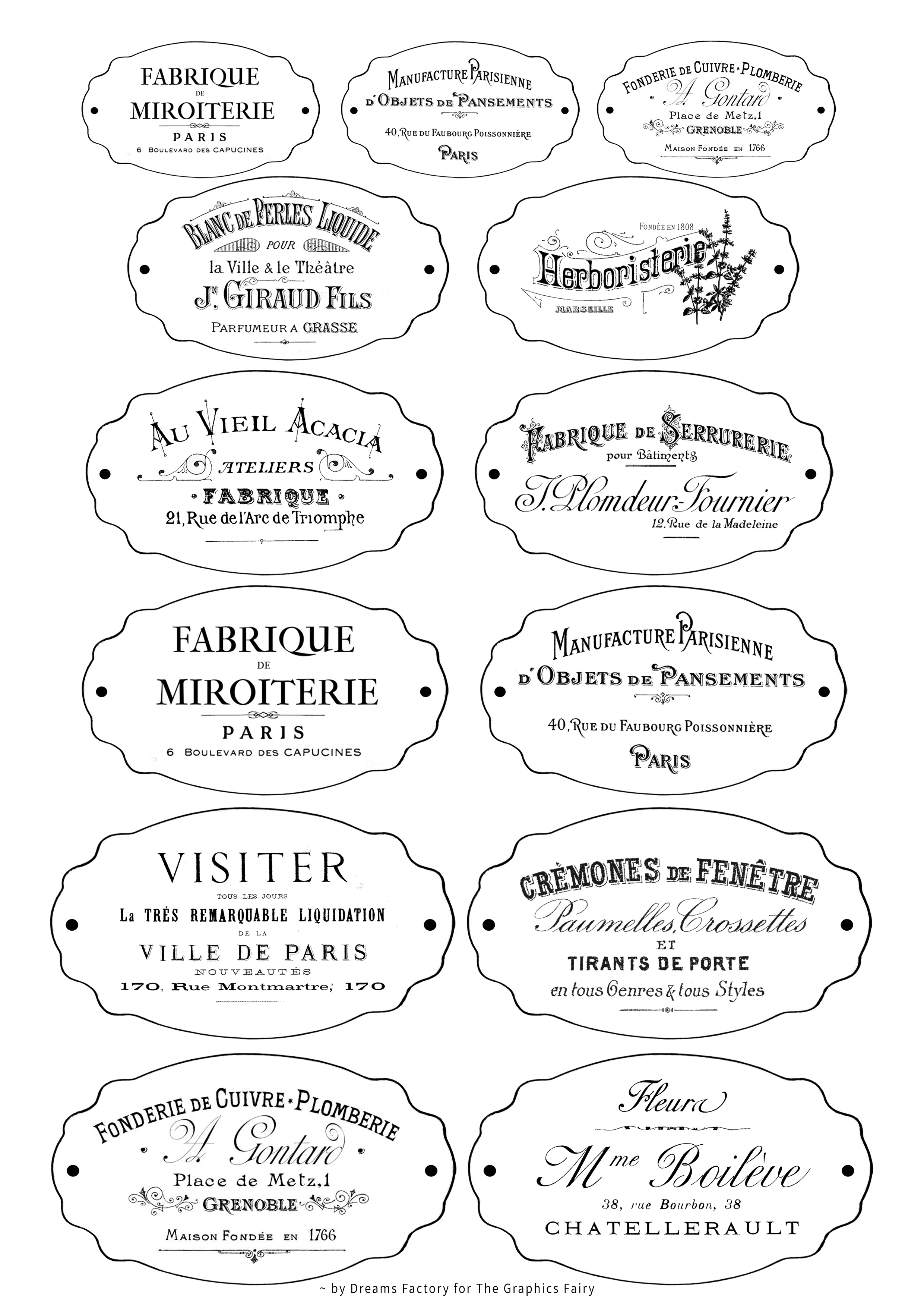 Diy Faux Rusted French Labels Free Printable