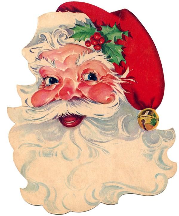 9 free vintage clip art - santa
